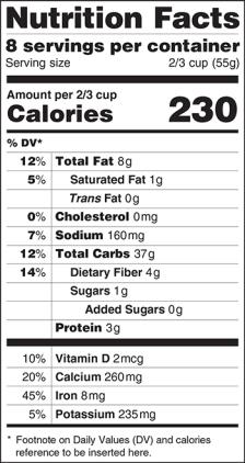 NutritionFactsLabelNew