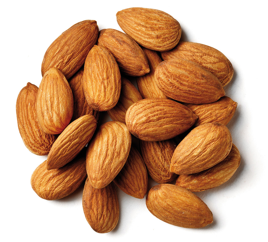 This is what a 1-ounce serving of almonds looks like (about 22 nuts).