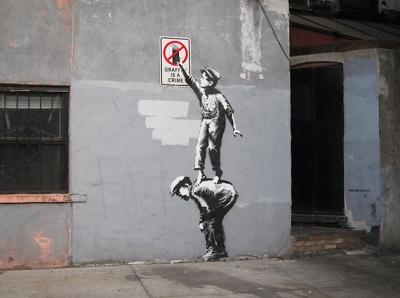 BanksyGraffitiIsACrime